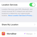 iOS 8 Location Services Required for MamaBear App