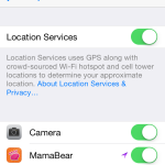 iOS 7 Location Services Required for MamaBear App