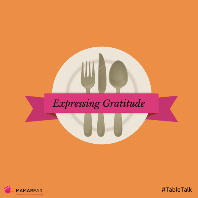 Thanksgiving is a time that reminds us to express our gratitude and be more thankful, but throughout the year parents have an opportunity to bring that type of gratitude to the dinner table.