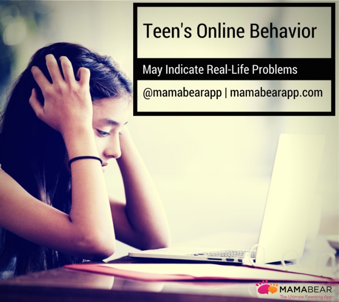 Newly published research shows that a teen's online behavior can reveal a lot about what they go through and experience in real-life.