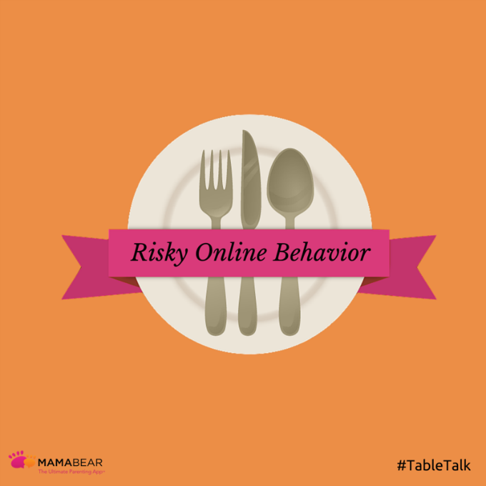 Stopping your child from engaging in risky online behavior may start with one thing -- a good dinner table discussion.