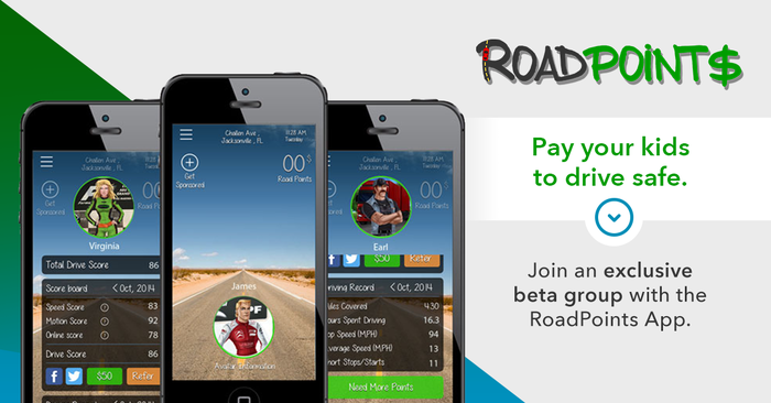 Pay your kids to drive safe with RoadPoints