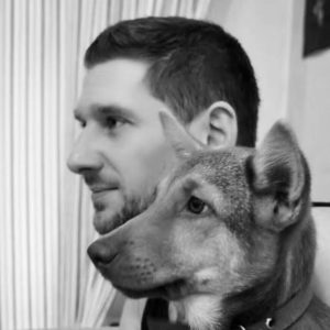 Picture of James Mash and his dog